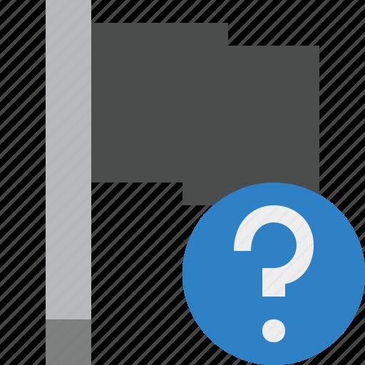 dark, flag, help, location, marker, pin, point icon