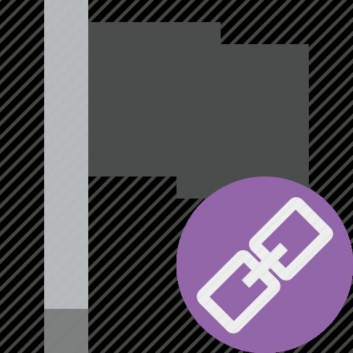 dark, flag, link, location, marker, pin, point icon