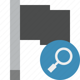 dark, flag, location, marker, pin, point, search icon