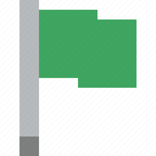 flag, green, location, marker, pin, point icon
