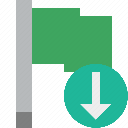 download, flag, green, location, marker, pin, point icon
