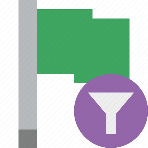 filter, flag, green, location, marker, pin, point icon