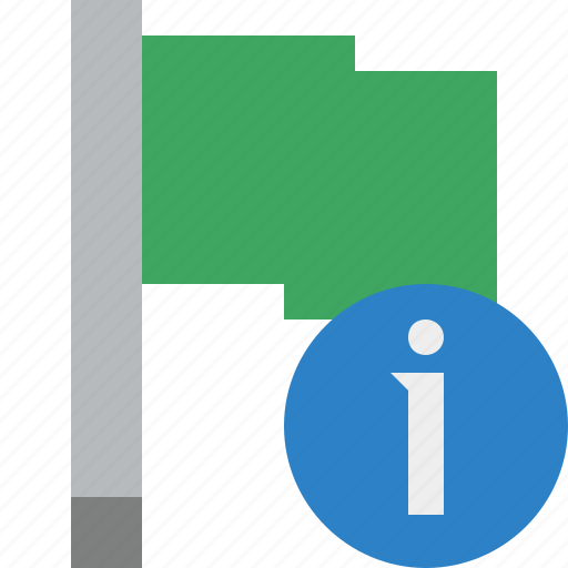 flag, green, information, location, marker, pin, point icon