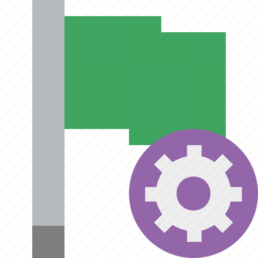 flag, green, location, marker, pin, point, settings icon