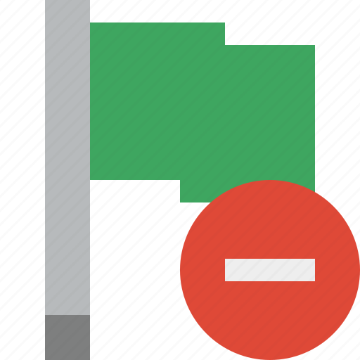 flag, green, location, marker, pin, point, stop icon