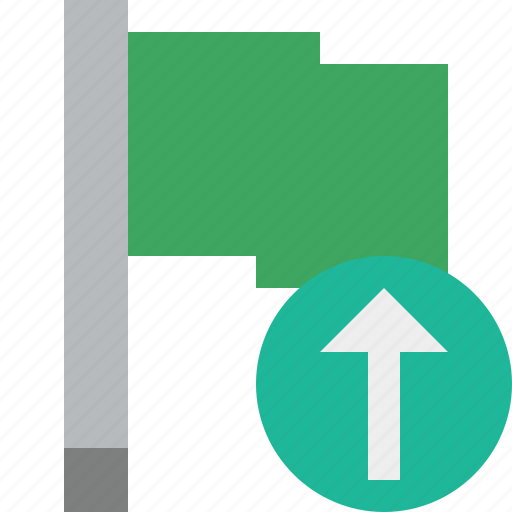 flag, green, location, marker, pin, point, upload icon
