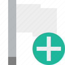 add, flag, light, location, marker, pin, point icon