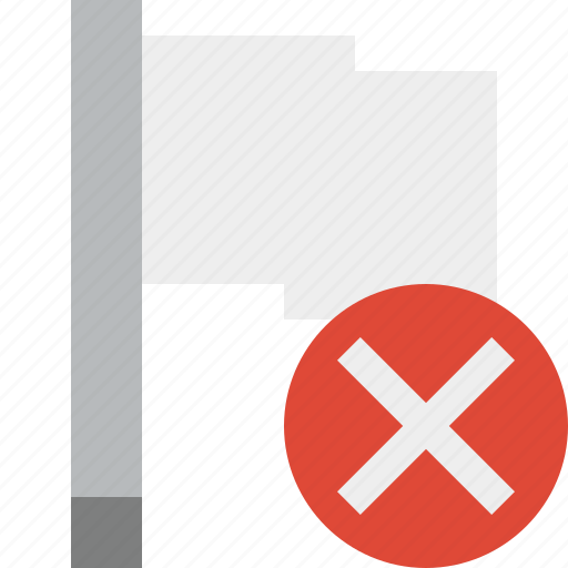 cancel, flag, light, location, marker, pin, point icon