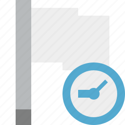 clock, flag, light, location, marker, pin, point icon