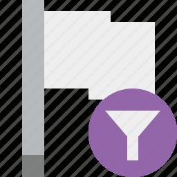filter, flag, light, location, marker, pin, point icon