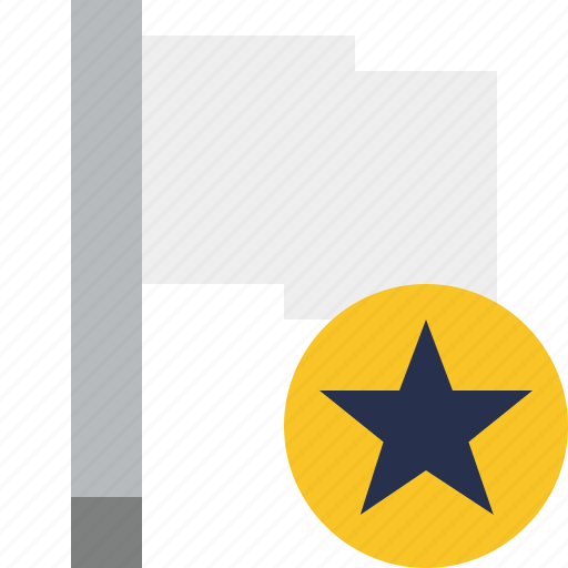 flag, light, location, marker, pin, point, star icon