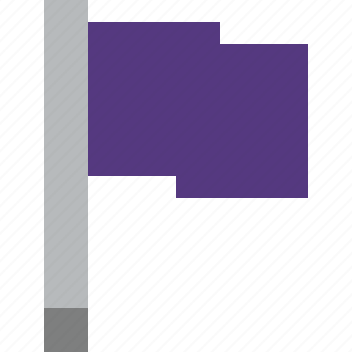flag, location, marker, pin, point, purple icon