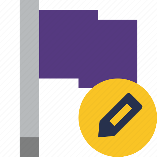 edit, flag, location, marker, pin, point, purple icon