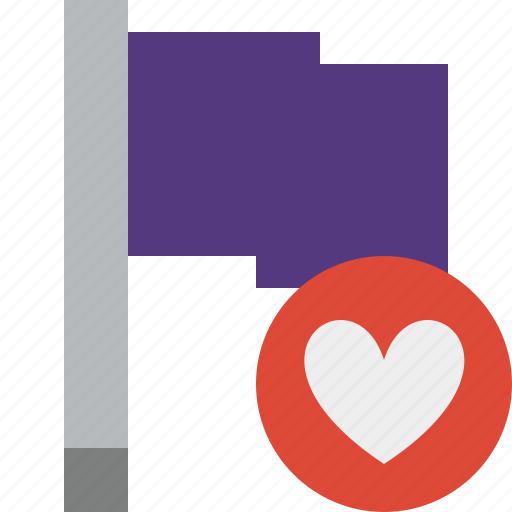 favorites, flag, location, marker, pin, point, purple icon
