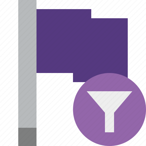 filter, flag, location, marker, pin, point, purple icon