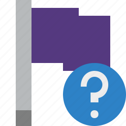 flag, help, location, marker, pin, point, purple icon