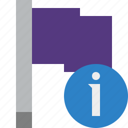 flag, information, location, marker, pin, point, purple icon