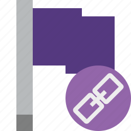 flag, link, location, marker, pin, point, purple icon