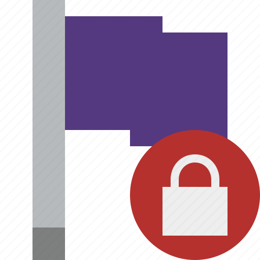 flag, location, lock, marker, pin, point, purple icon