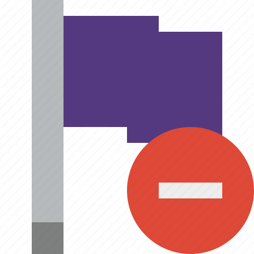 flag, location, marker, pin, point, purple, stop icon