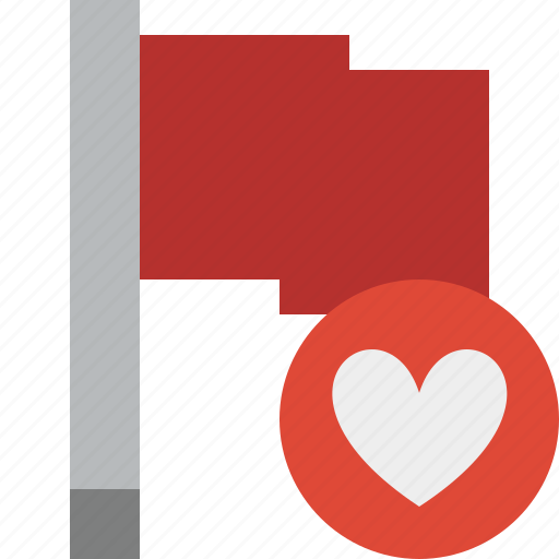 favorites, flag, location, marker, pin, point, red icon