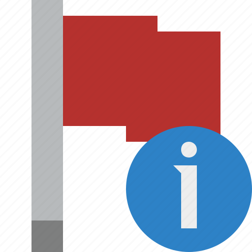 flag, information, location, marker, pin, point, red icon