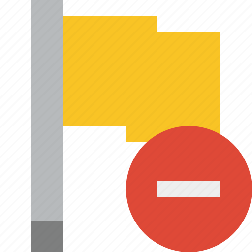flag, location, marker, pin, point, stop, yellow icon