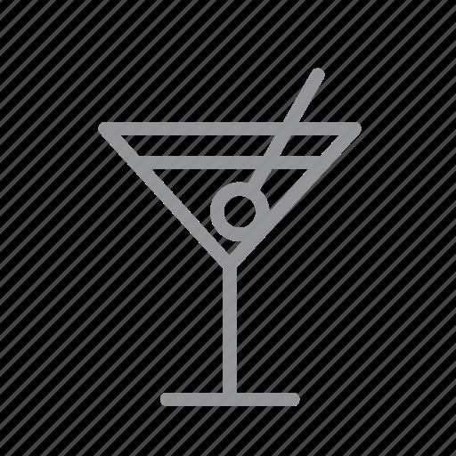 cafe, drink, food, martini, restaurant icon