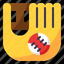 baseball, catching, glove, hobby, sport