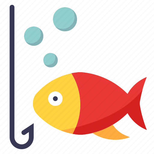 bait, bubble, fish, fishing, hobby, water icon