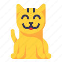 canine, cat, hobby, pet, smile icon