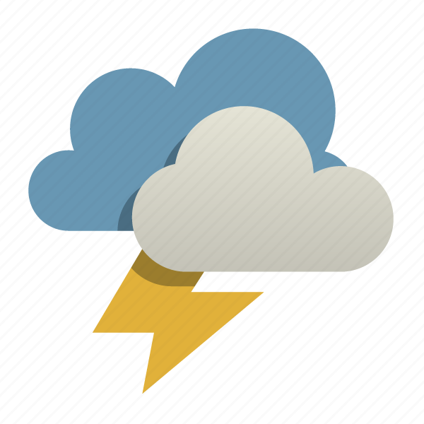 Cloud, lightning, storm, weather icon | Icon search engine