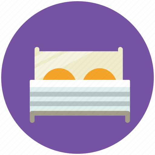 bed, bedroom, furniture, hotel, room, sleeping icon