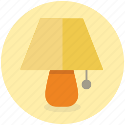bed, bedroom, furniture, interior, lamp, side icon