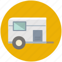 caravan, transport, transportation, travel, vacation, vehicle icon