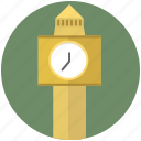clock, tower, building, construction, time