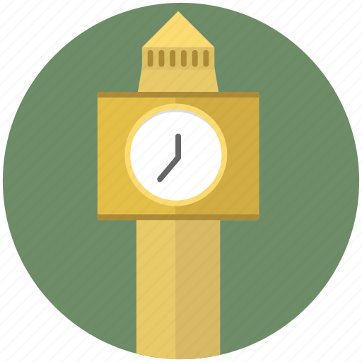 building, clock, construction, time, tower icon