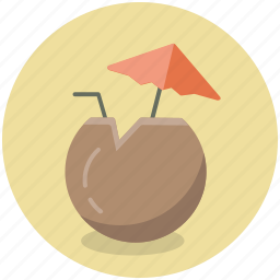 alcohol, beverage, cocktail, coconut, cup, drink icon