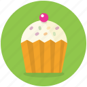 bakery, cake, cupcake, dessert, food, sweet icon