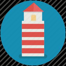 firehouse, light, lighthouse, ocean, sea icon
