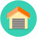 building, car, garage, house, vehicle icon