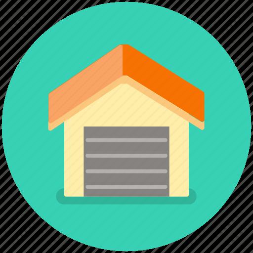 building, car, garage, house, vehicle icon