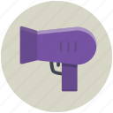 hairdryer, blow, blowdryer, drier, dryer, grooming, hair icon