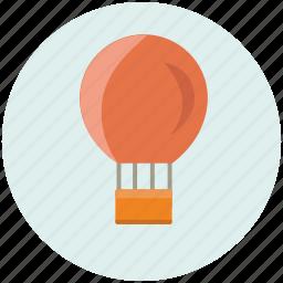air, balloon, hot, transport, transportation, travel, vacation icon