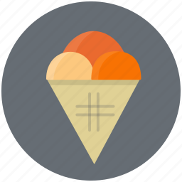 cone, cream, dessert, eat, food, ice, sweet icon