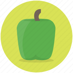 cook, food, green, health, paprika, vegetable icon