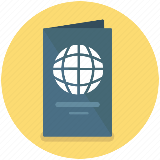 identification, pass, passport, travel, visa icon