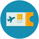 aeroplane, airplane, flight, plane, ticket, transportation icon