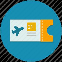 aeroplane, airplane, flight, plane, ticket, transportation icon
