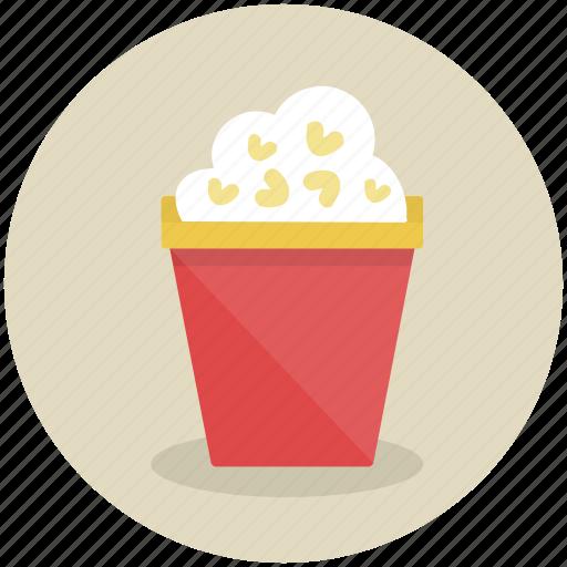 cinema, corn, food, popcorn, snack icon